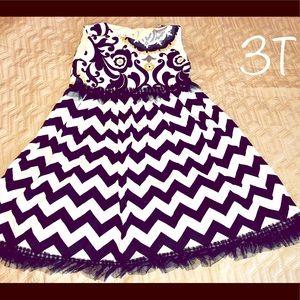 Handmade Canvas Dress- 3T